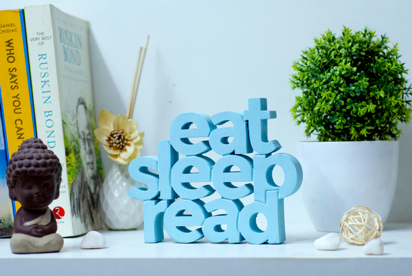 Eat Sleep Read Wooden tabletop