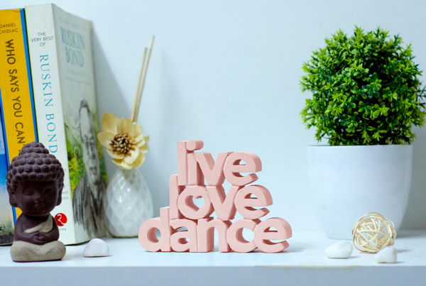 Live Love Dance wooden tabletop