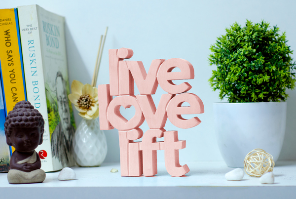 Live Love Lift Wooden tabletop