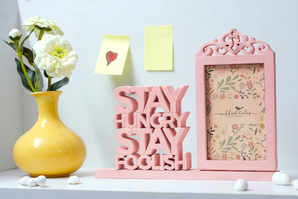 Stay Hungry Stay Foolish Wooden Photo frame