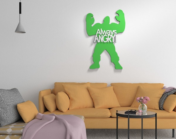 Wooden handmade Wall pop art
