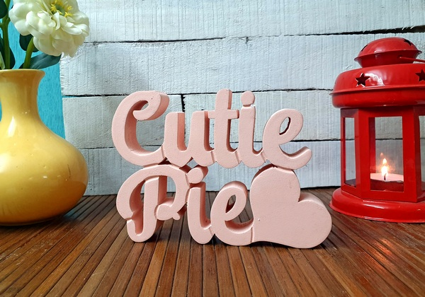 Cutie Pie wooden tabletop