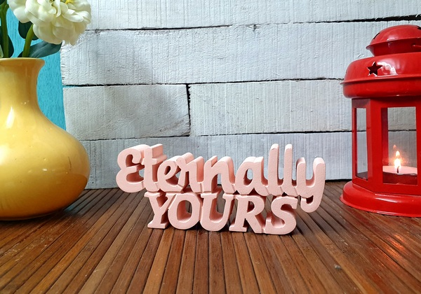 Eternally Yours wooden tabletop