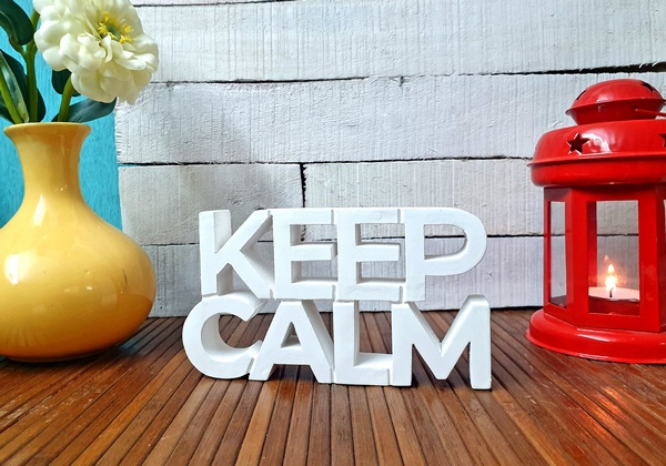 Keep Calm wooden tabletop