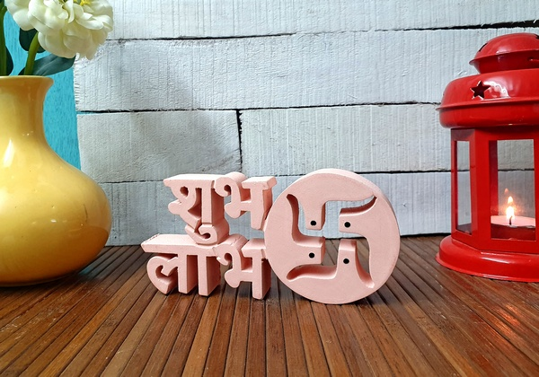 Shubh Labh wooden tabletop